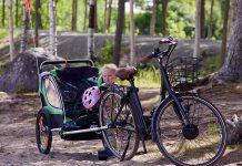 Vélo-électrique-Remorque-Bébé